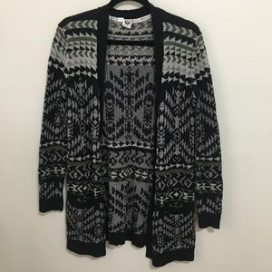 ROXY aztec tribal print open front cardigan AT12